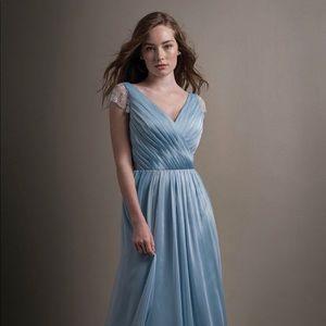 Misty Blue Chiffon Gown